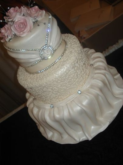 Wedding dress with bling