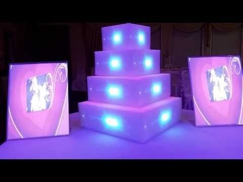 4 layer cake with slideshow