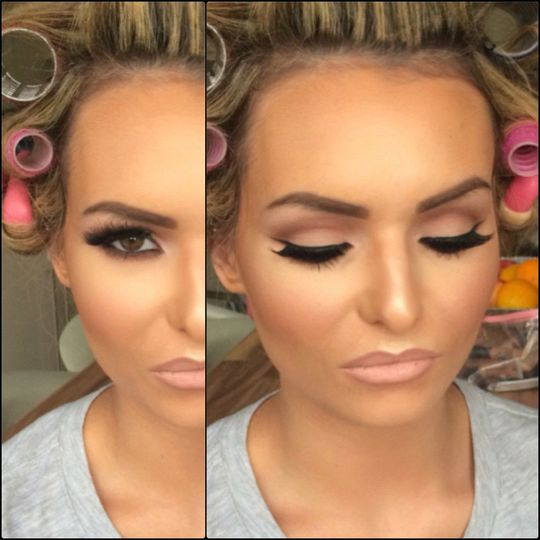 ... A soft glam makeup look.