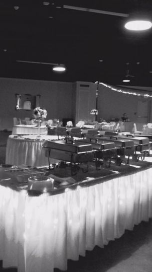 Wedding reception catering at Hammond Police Union Hall