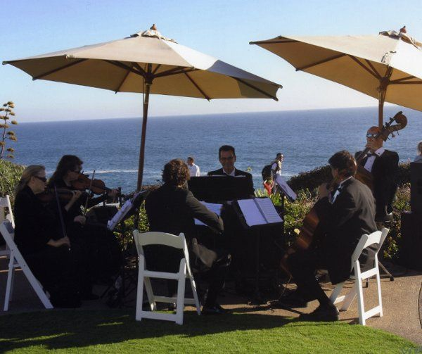 Our sextet playing for a wedding ceremony & cocktail reception at the Montage Resort in Laguna...