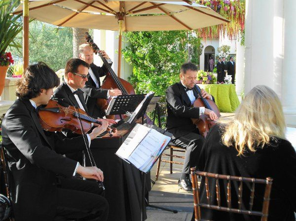 Our quintet playing for a wedding ceremony & cocktail reception at the St. Regis Resort in Monarch...