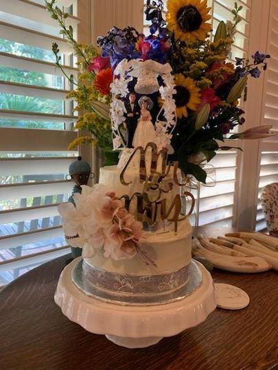Almond anniversary cake