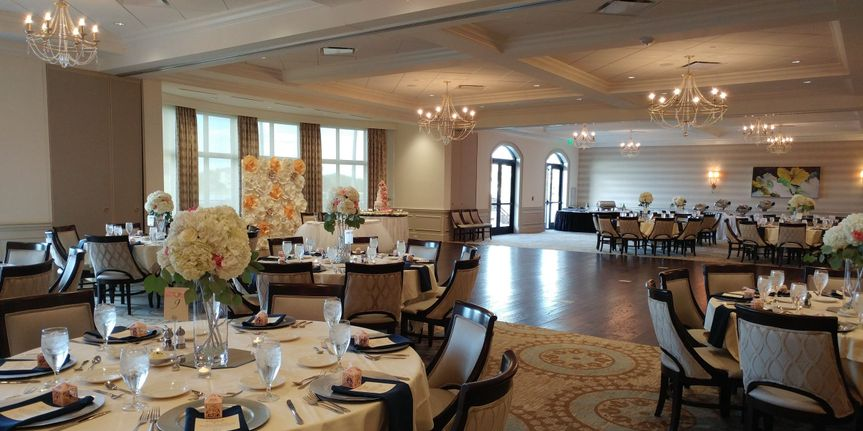 Wide show of reception space