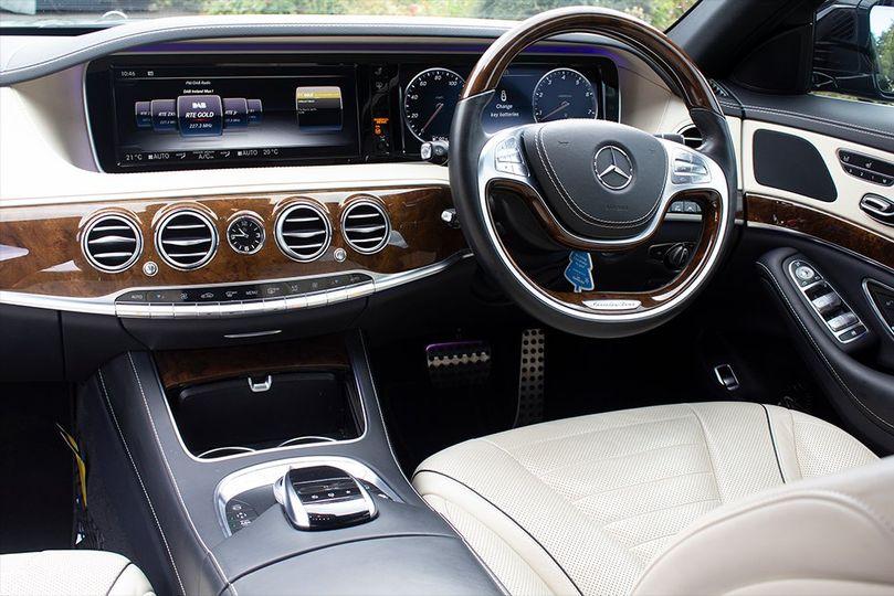Mercedes S-class 500 interior