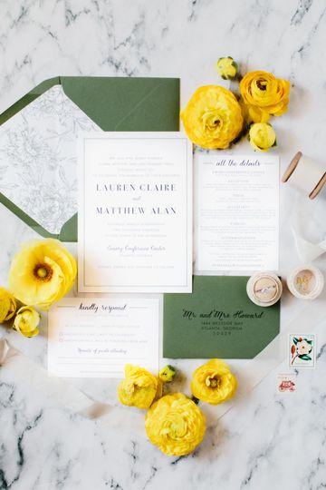 Clean Minimalist St Patrick's Day Wedding Invitation