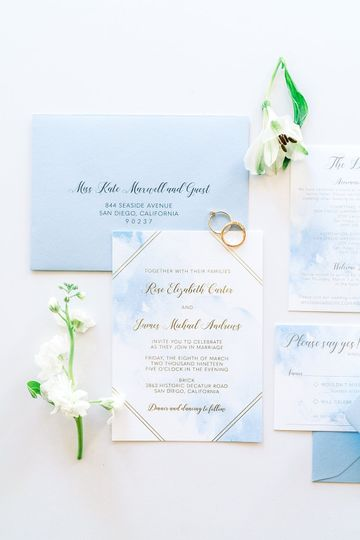 Watercolor and Gold Foil