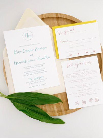 Modern Letterpress Wedding