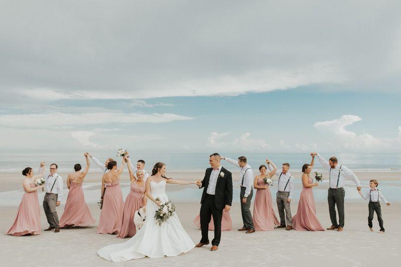 Wedding party on the beach