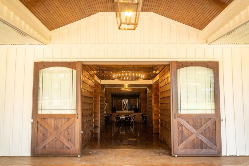 View inside from Barn Doors
