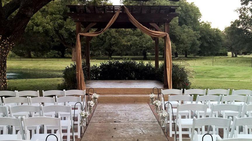 Typical wedding arch