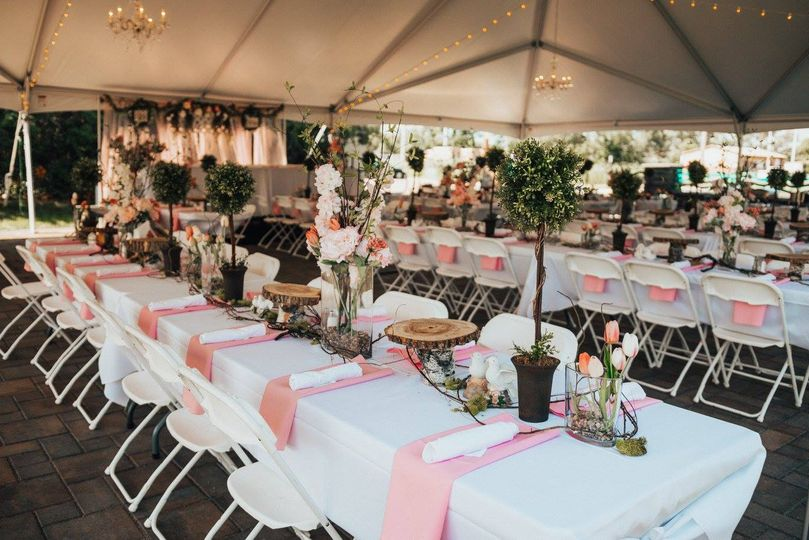 Outdoor tent setup | Credit: hailey marie photo