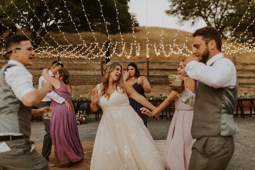 Barn Wedding Dance Floor