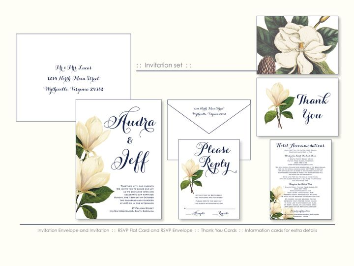 Tmx 1526925707 3e6652e0ce7e9b71 1526925703 44b3d1b24f6a1dc5 1526925698542 9 Magnolia Wappingers Falls, New York wedding invitation