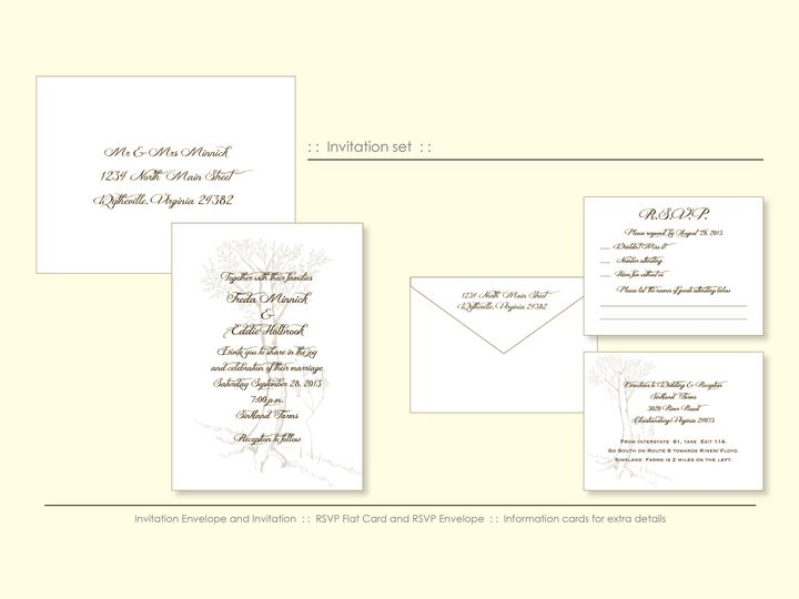 Tmx 1526925707 4e4ccc1b9a899eaa 1526925703 Fa67cc79bb86b0b8 1526925698541 8 GoldTree Wappingers Falls, New York wedding invitation