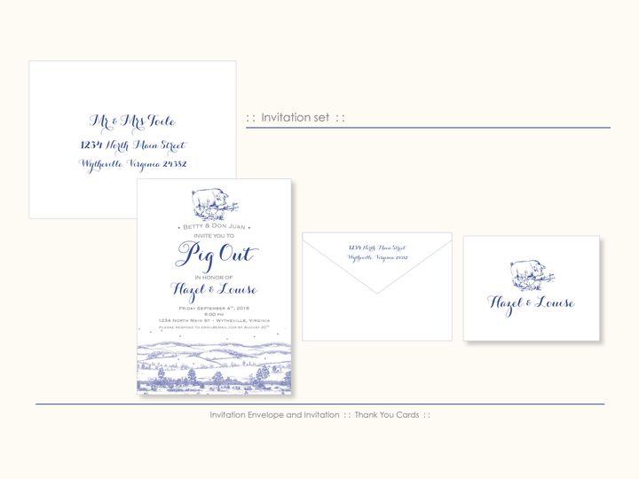 Tmx 1526925713 D6c92b12f35059b3 1526925710 895686d84300e6bb 1526925698551 13 ToilePig Wappingers Falls, New York wedding invitation