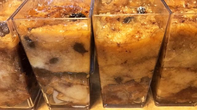 Butter rum bread pudding