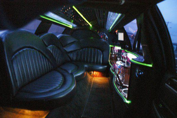 White 10 passenger Interior