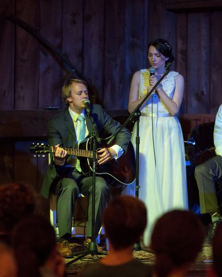 Singing at our own wedding: )