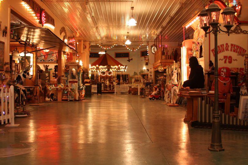 Fun indoor space between ballroom and carousel