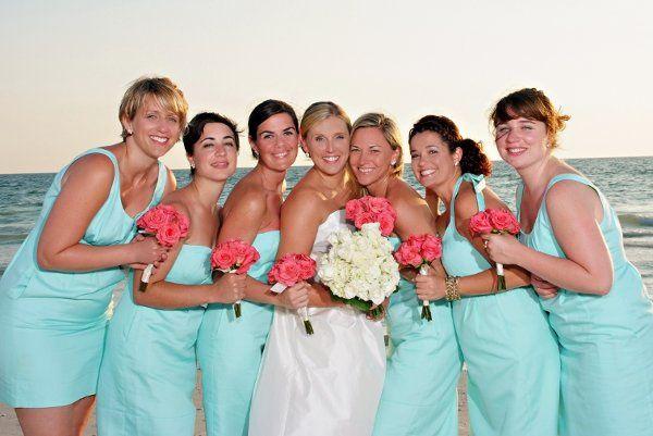 Bride with her bridesmaids