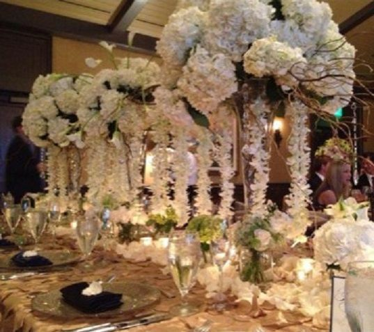 Cascading White Centerpieces- TPC Wedding