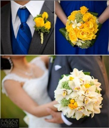 Lovely Yellows Bouquets and Boutineer