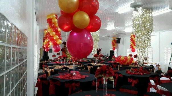 Red, black and gold theme