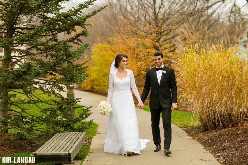 Fall wedding photo spot