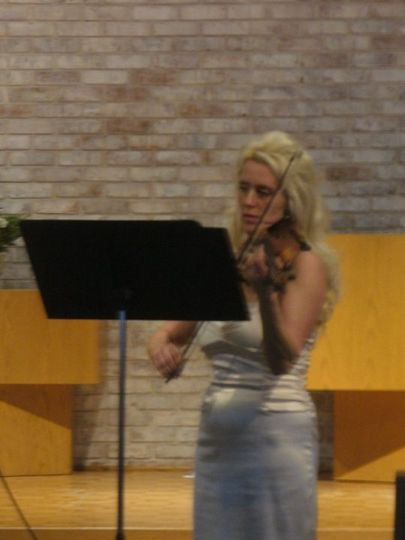 Performing at a church wedding