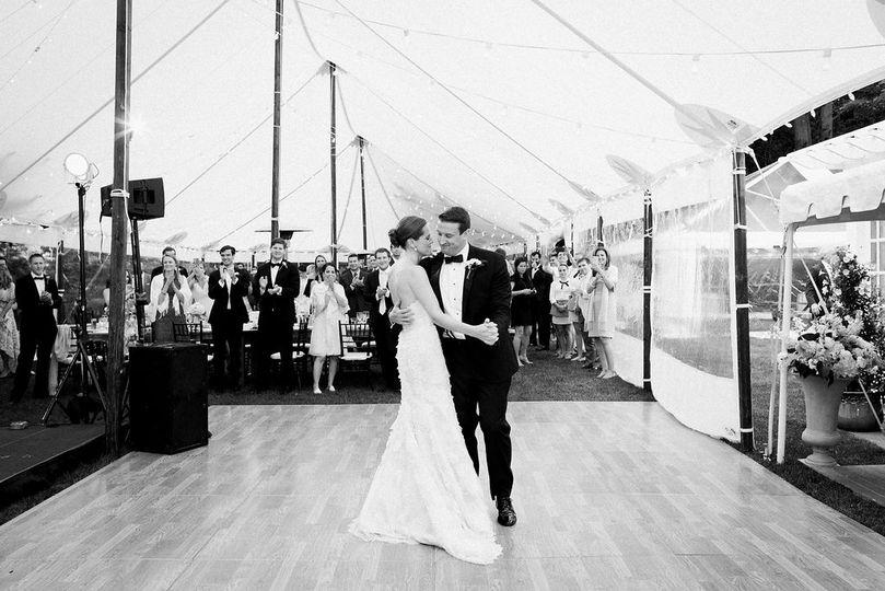 Black & white first dance