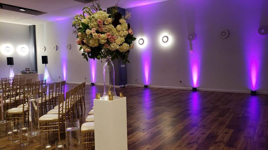 Wedding with Pink uplighting