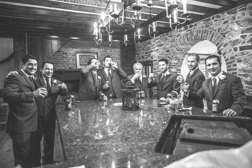 Groom and his groomsmen