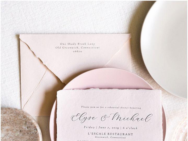 Tmx Blush Handmade Paper Wedding Invitations 51 577969 1573585819 Milford wedding invitation