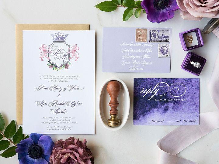 Tmx Ebell Los Angeles Watercolor Crest Wedding Invitation 51 577969 1573585812 Milford wedding invitation