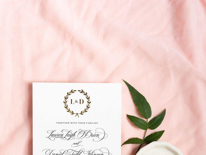 Tmx Gold Foil Crest Custom Wedding Invitation 51 577969 1573585845 Milford wedding invitation