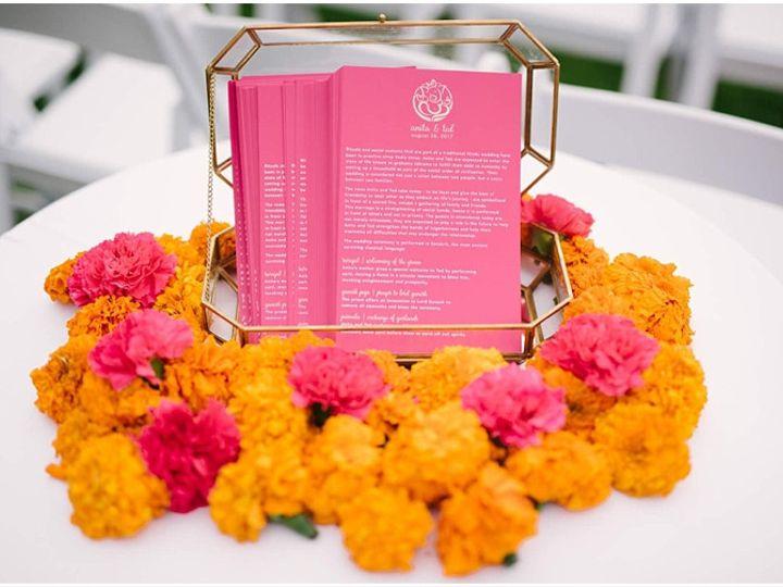 Tmx Half Moon Bay Hindu Wedding Ceremony Programs 51 577969 1573585932 Milford wedding invitation