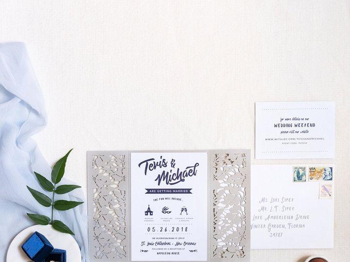 Tmx Laser Cut Modern New Orleans West Invitation 51 577969 1573585857 Milford wedding invitation