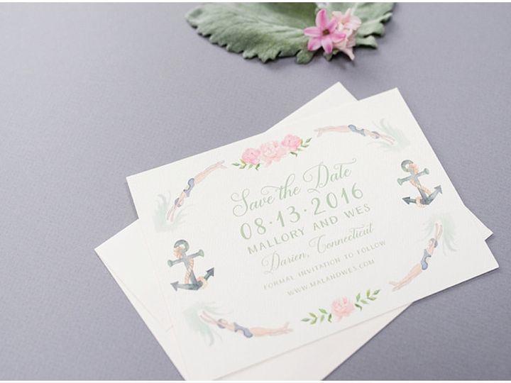 Tmx Nautical Watercolor Crest Save The Dates 51 577969 1573585983 Milford wedding invitation