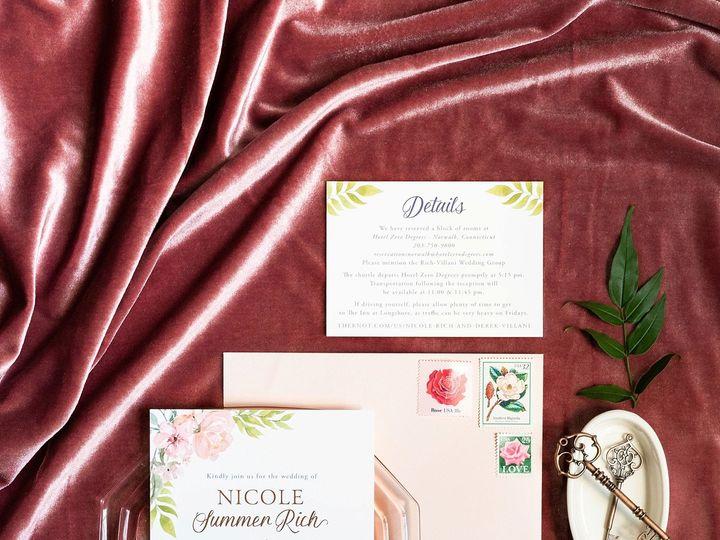 Tmx Rose Gold Watercolor Floral Wedding Invitation 51 577969 1573586029 Milford wedding invitation