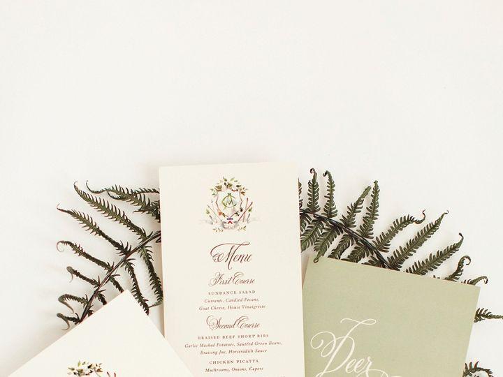 Tmx Ski Wedding Watercolor Crest Stationery 51 577969 1573585991 Milford wedding invitation