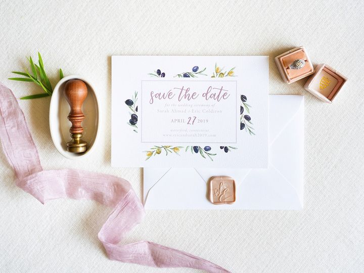 Tmx Watercolor Olive Save The Date 51 577969 1573585970 Milford wedding invitation