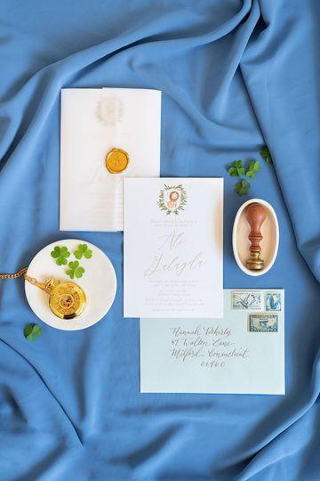 Vellum Wax Seal Invitation