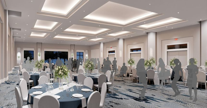 The main event room