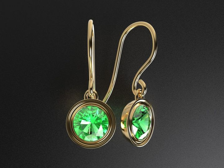 pam emerald earrings