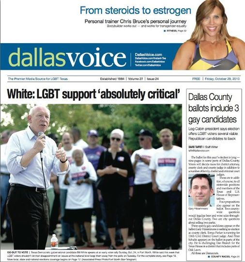 Dallas Voice Article on Discover Health and Fitness