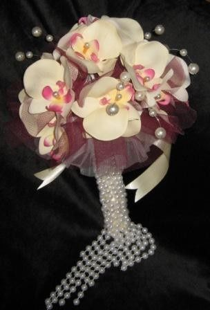 pearls omega orchids bridal bouquet c