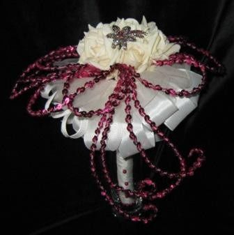 vanilla roses brooche bridal bouquet a