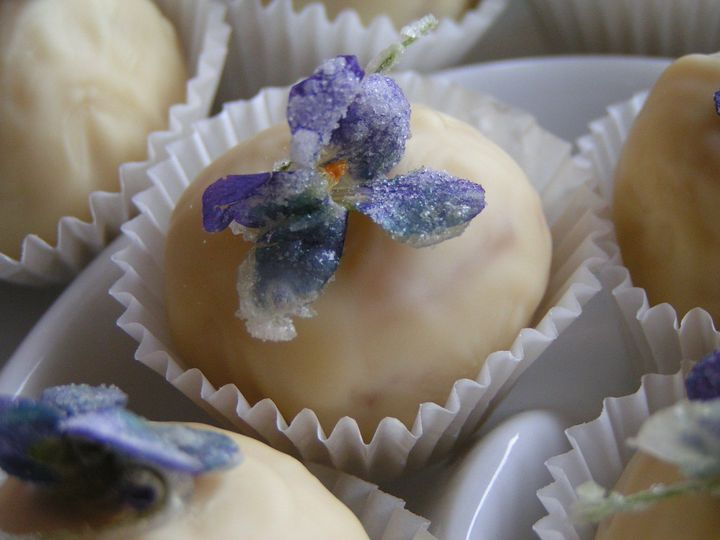 white chocolate candied violets 4