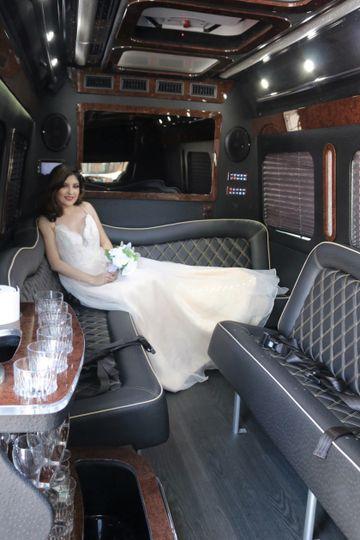 Bride Across Bench
